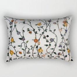 Flowers - Stems - Bossoms - Branches - Pattern Rectangular Pillow
