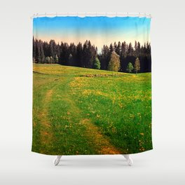 Outdoors in sunny spring Shower Curtain