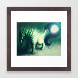 lightning fox Framed Art Print