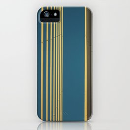 Yellow lines into the sky iPhone Case