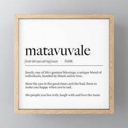 Fijian Matavuvale (Family) Definition Framed Mini Art Print