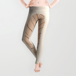 DATE AND TIME - Hand drawn modern abstract art Leggings