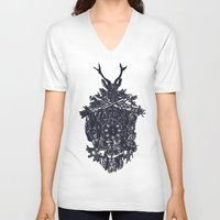 clockwork V-neck T-shirts featuring Clockwork by Jamie Bryan