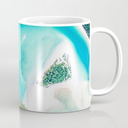 Green Islands in the Water (Color) Coffee Mug