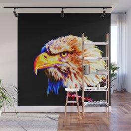 bald eagle 03 neon lines crystal Wall Mural