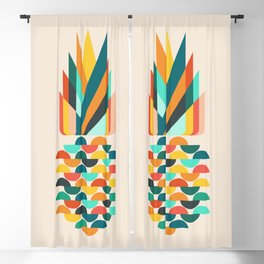 Groovy Pineapple Blackout Curtain
