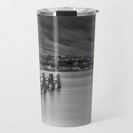 Dramatic Skies Over Cardiff Bay Travel Mug