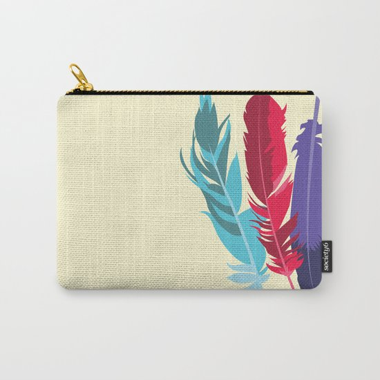 Indie Feathers  Carry-All Pouch