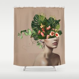 Lady Flowers llll Shower Curtain