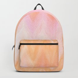 Blush pink orange watercolor hand painted ombre ikat Backpack
