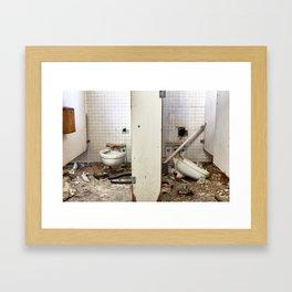 The Bathroom Stalls Framed Art Print