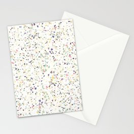 Classy vintage marble terrazzo pastel abstract design Stationery Cards