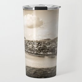 Cityscape Möhne From Reservoir Barrage Wall sepia Travel Mug