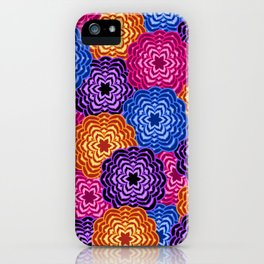 Dahlia Rainbow Multicolored Floral Abstract Pattern iPhone Case