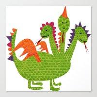 dragon Canvas Prints featuring dragon by BruxaMagica_susycosta