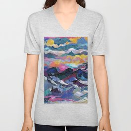 Montain Sunrise Unisex V-Neck
