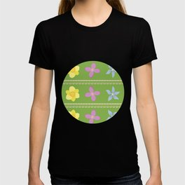 Spring Flowers Pattern [GREEN] T-shirt