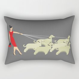 Afghan Lady Rectangular Pillow