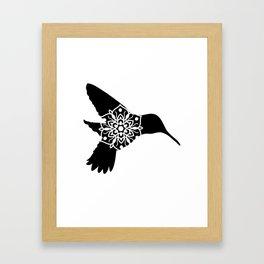 Hummingbird Mandala Framed Art Print
