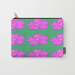 Hibiscus Print Carry-All Pouch