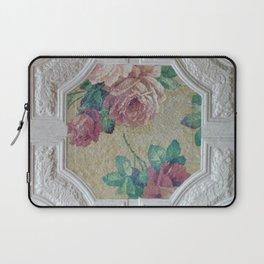Antique Ceiling Tile * Art tile * Victorian Roses Laptop Sleeve