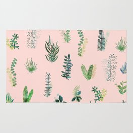 pink garden Rug