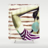 bubble Shower Curtains featuring Bubble by Mi Nu Ra