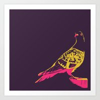 pigeon Art Prints featuring pigeon by toby.garrow