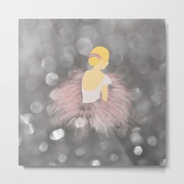 Blonde Ballerina Dancer Metal Print