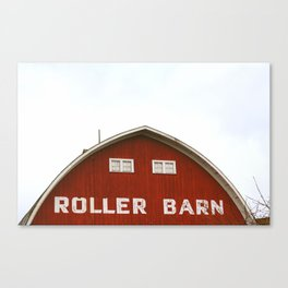 Roller Skaters Welcome Canvas Print
