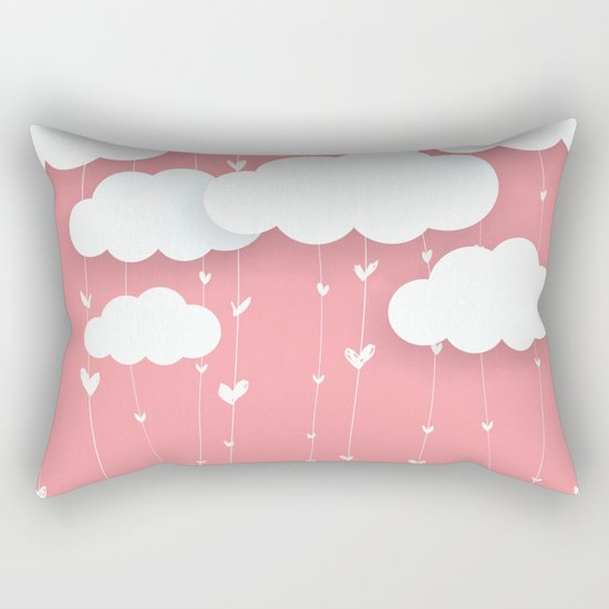 Raining Love Rectangular Pillow