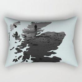 'Wandering' Scotland map Rectangular Pillow
