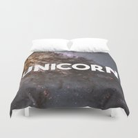 unicorn Duvet Covers featuring Unicorn by eARTh