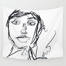 Portrait of a Woman Wall Tapestry