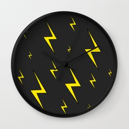 Lightning Bolt Pattern Wall Clock