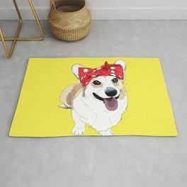 Political Pups - Register To Vote Corgi Dog Rug