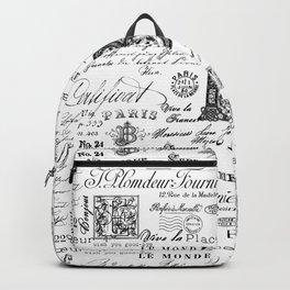 Nostalgic Black And White Vintage Lettering Backpack