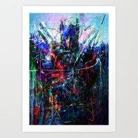 optimus prime Art Prints featuring OPTIMUS PRIME by Raditya Giga