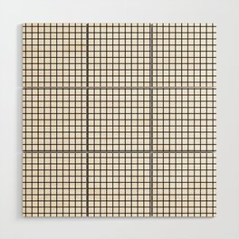 Black and White Grid Graph Wood Wall Art
