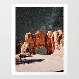carretera a las estrellas Art Print