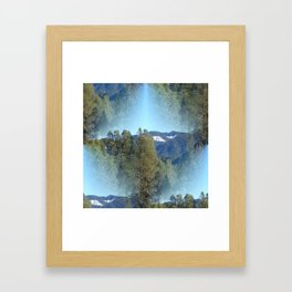 In the mountains... Framed Art Print