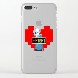 sans the skeleton Clear iPhone Case