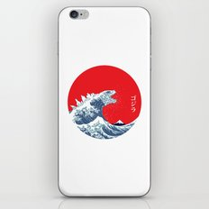 Hokusai kaiju iPhone & iPod Skin