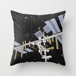 ISS- International Space Station Throw Pillow
