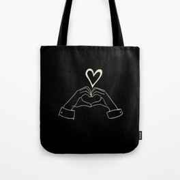 hand heart sign kpop Tote Bag