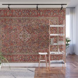 Kashan  Antique Persian Rug Wall Mural