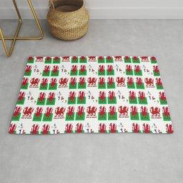 Wales Rugby Fan Baner Cymru Flag Design Rug