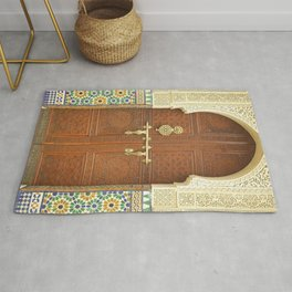 Ornate Moroccan Door Rug