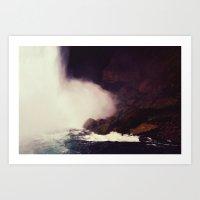 Cave of Magic Falls  Art Print