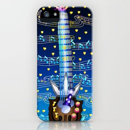 Fusion Keyblade Guitar #174 - Kingdom Key & Counterpoint iPhone Case
